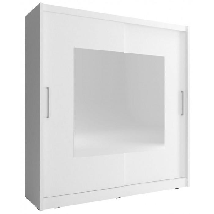 Szafa 180 przesuwna z lustrem WIKI IX biała