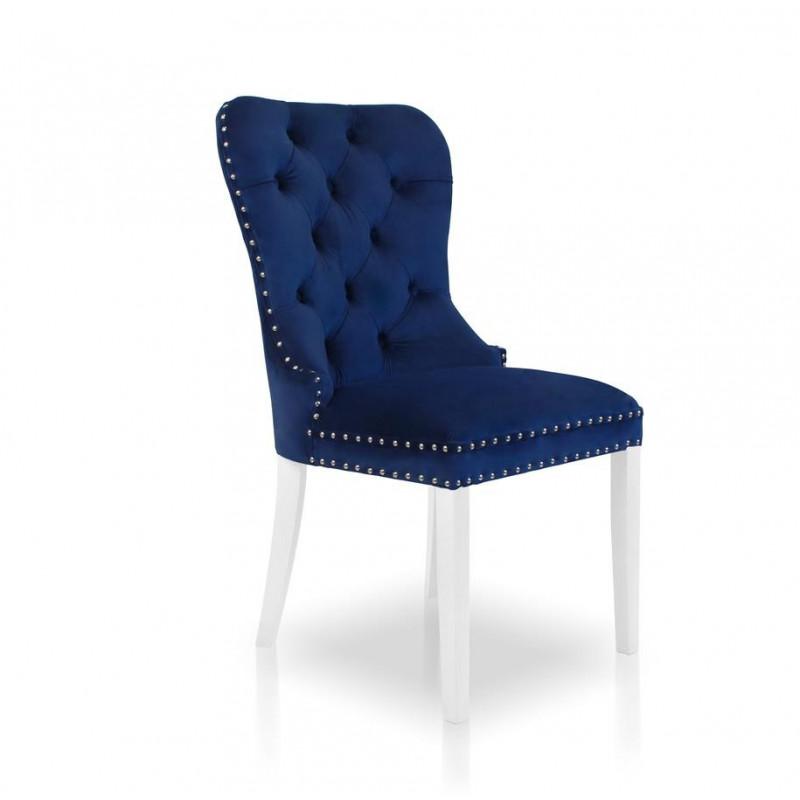 Krzesło MADAME II niebieski/ noga biała/ SO263