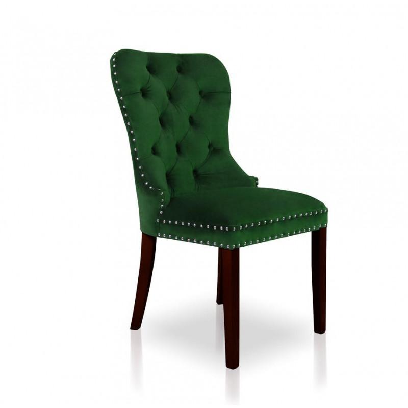 Krzesło MADAME II zielony/ noga orzech/ SO260