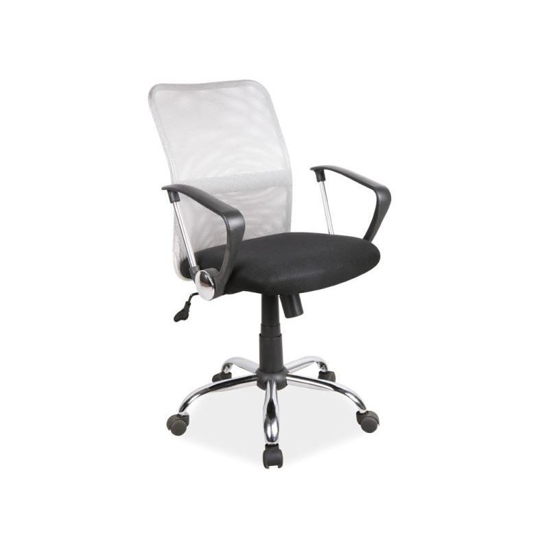 Krzesło obrotowe z podłokietnikami Q-078 szaro-czarne