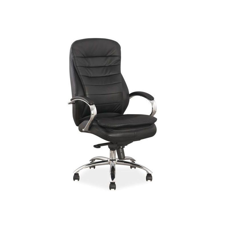 Fotel obrotowy biurowy Q-154 czarny skóra / ecoskóra