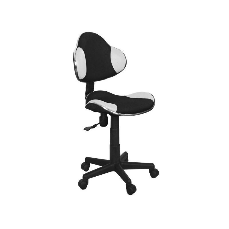 Krzesło obrotowe do pokoju dziecięcego Q-G2 w kolorze czarno-białym