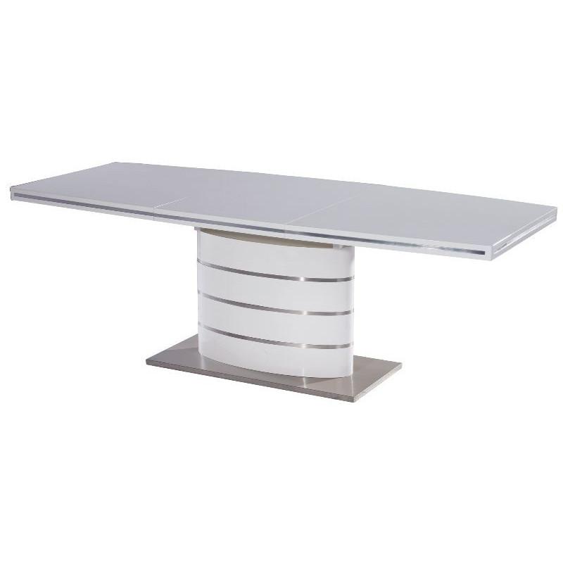 Nowoczesny stół rozkładany Fano biały 120-180X80