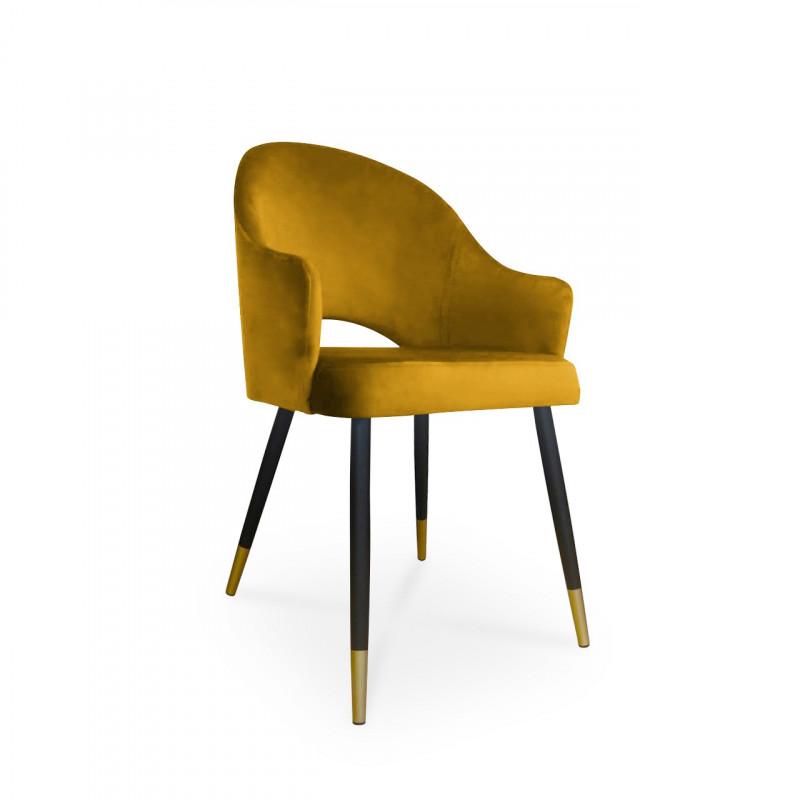 krzesło GODA / miodowy / noga czarno-złota / MG15