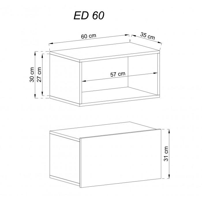 ENJOY - Szafka wisząca ED60