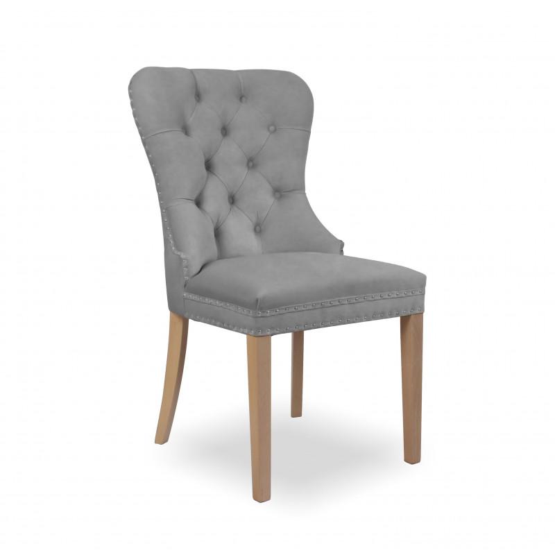 krzesło MADAME II srebrny / dąb / JA81