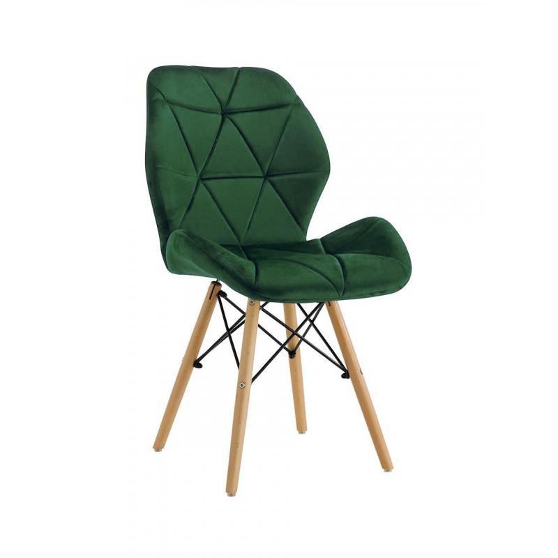 Krzesło BIG MILO velvet zielony
