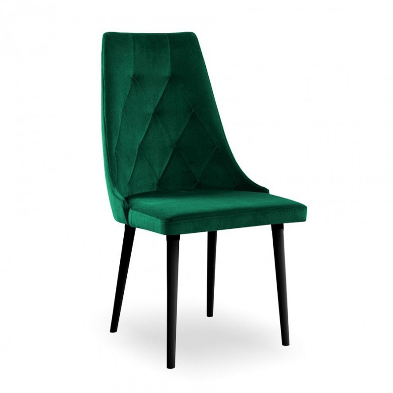 krzesło CARO VELVET zielony/czarny KR19