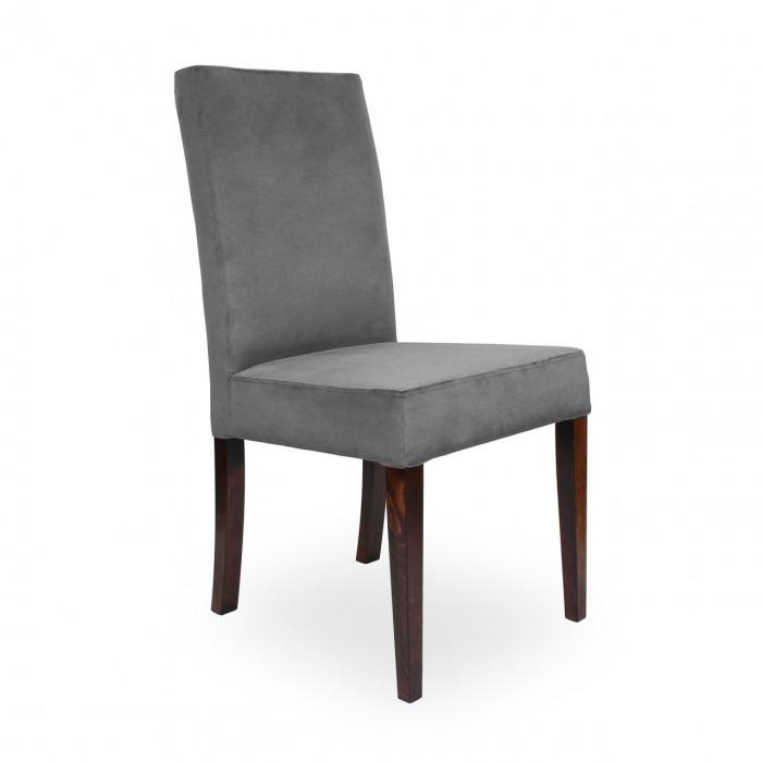 Krzesło WILLIAM szary/ noga orzech/ PA06