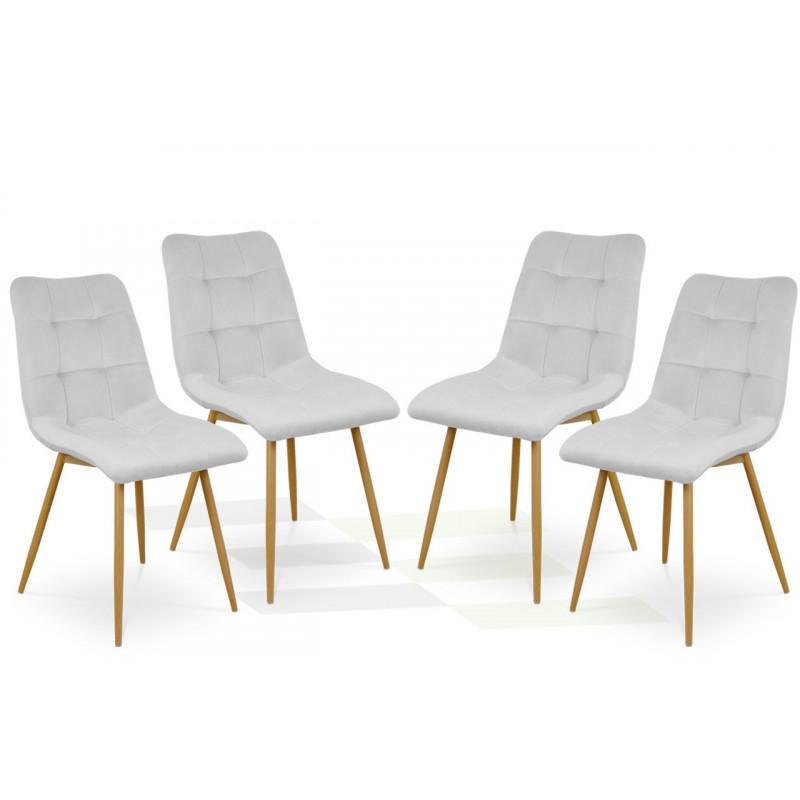 Zestaw krzeseł BEN jasnoszary / noga dąb