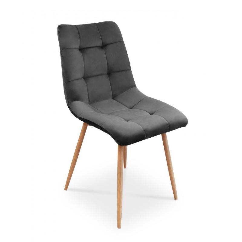 Krzesło BEN ciemnoszary/ noga dąb
