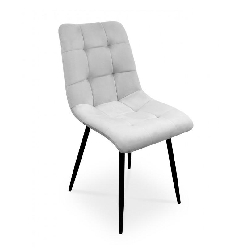 Krzesło BEN jasnoszary/ noga czarna