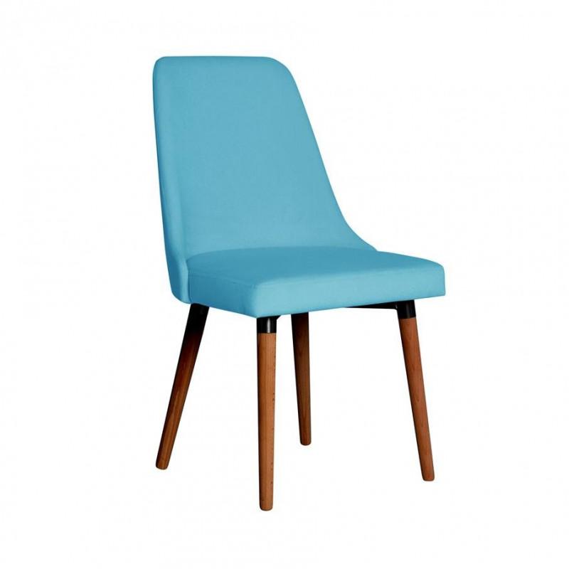 Tapicerowane krzesło Lauren na drewnianych nogach