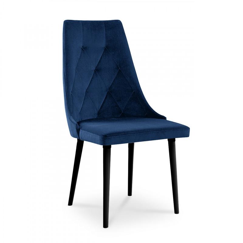 krzesło CARO VELVET granatowy / KR09