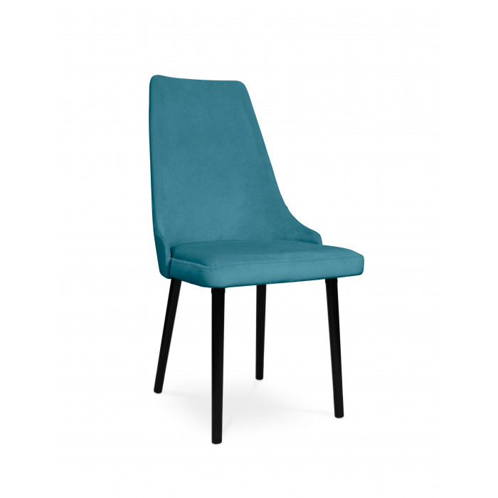 krzesło tapicerowane COTTO VELVET turkus / KR13