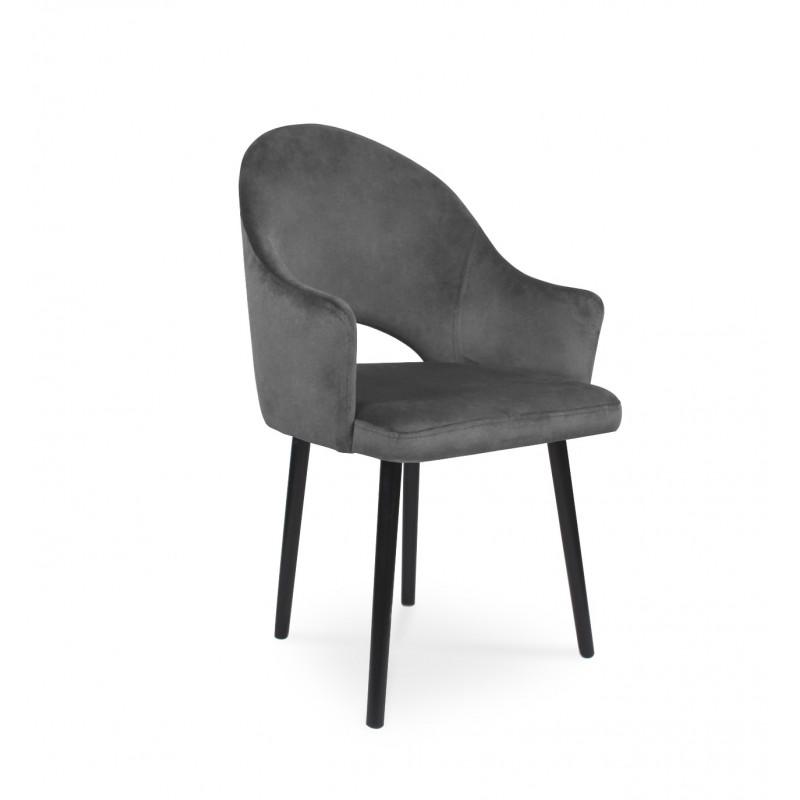 Krzesło tapicerowany BARI ciemny szary / PA06