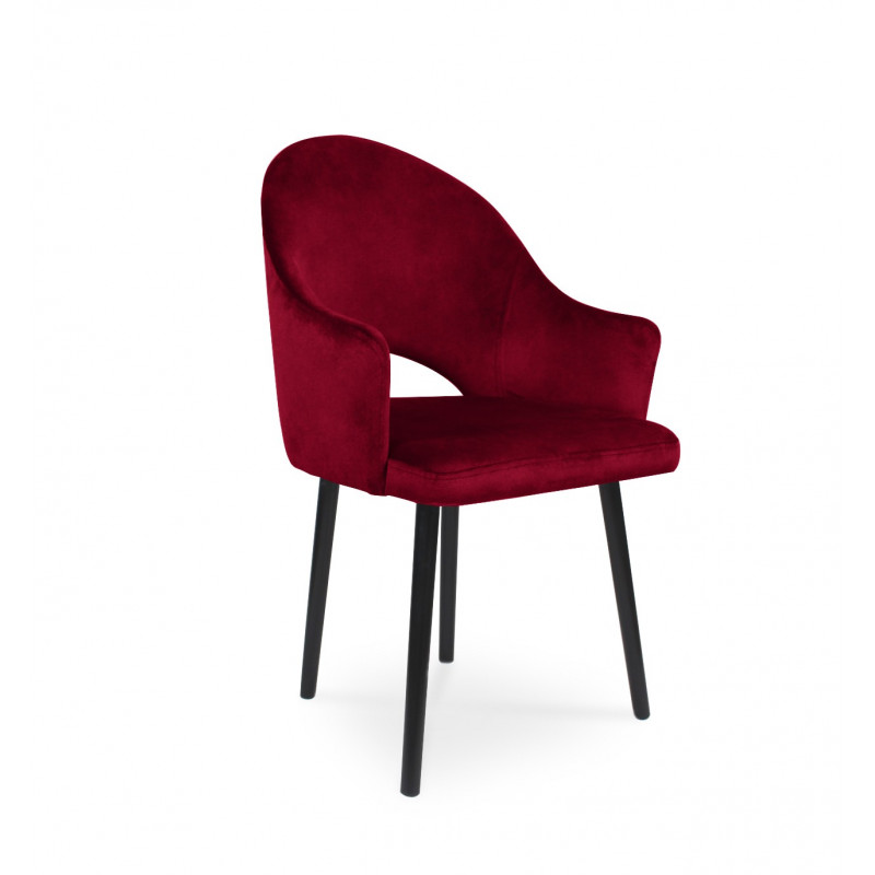 Krzesło tapicerowane BARI czerwony / KR02