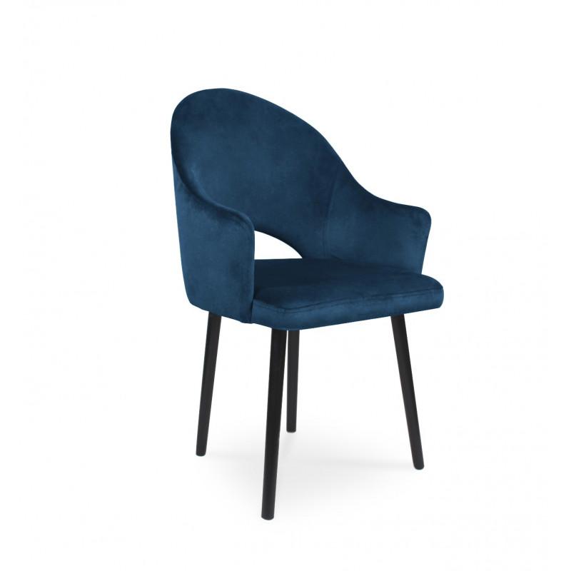 Krzesło tapicerowane BARI granatowy / KR09