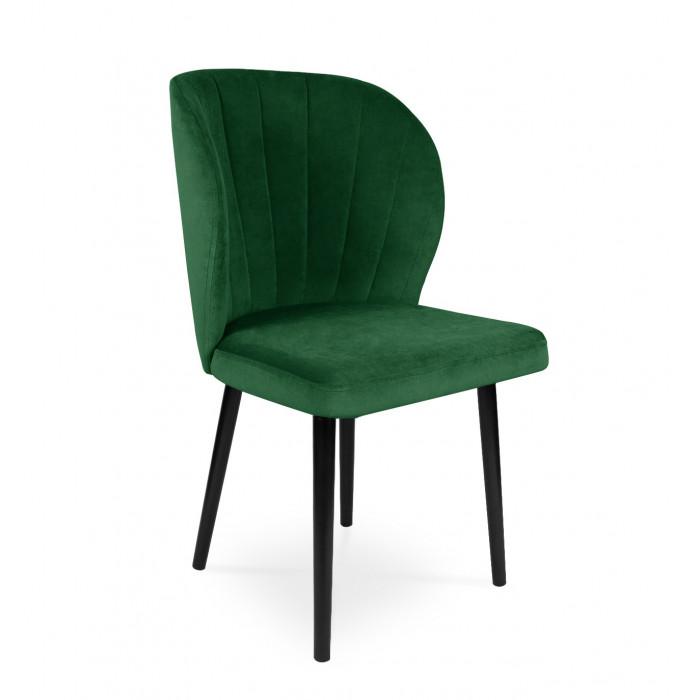 Krzesło tapicerowane SANTI velvet zielony / KR19