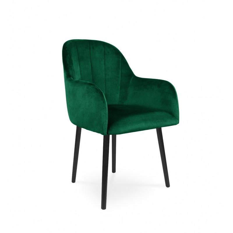 Krzesło tapicerowane BESSO zielony / KR19