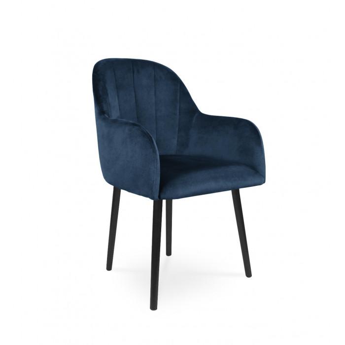 Krzesło tapicerowane BESSO granatowy / KR09