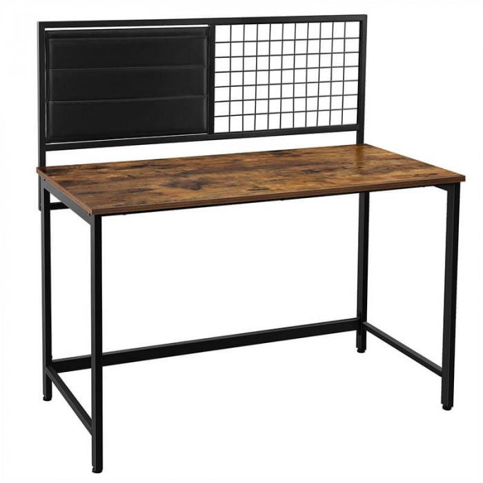 Industrialne biurko z przybornikiem / Rustic brown