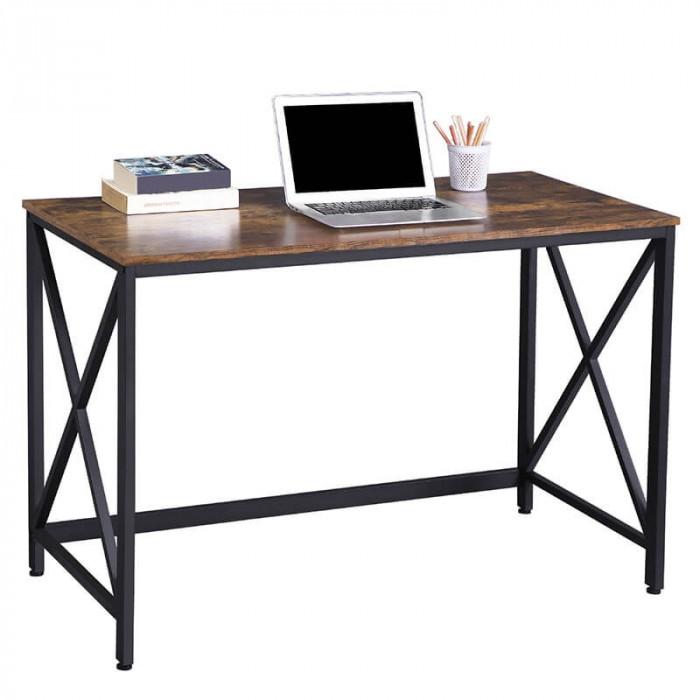 Wygodne biurko Hanoi w stylu industrialnym / Rustic brown