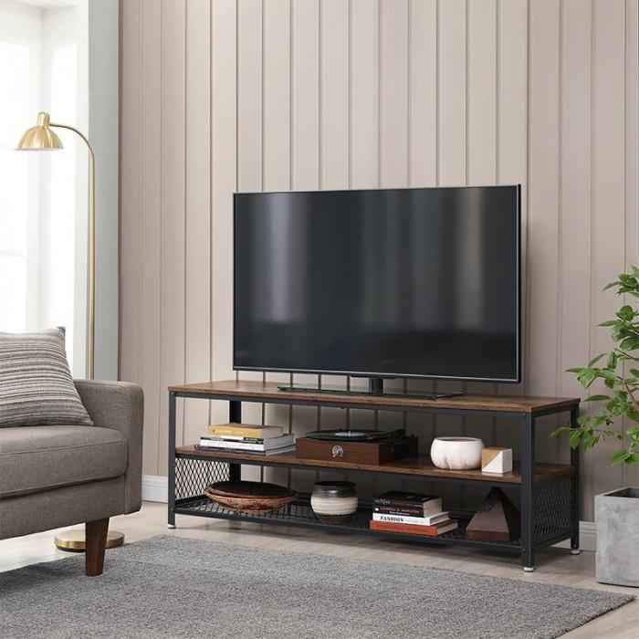 Długa szafka RTV 140 w stylu industrialnym / Rustic brown