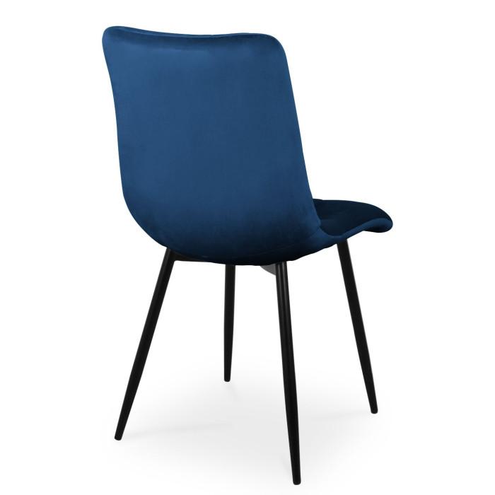 Krzesło BEN granatowy / noga czarna