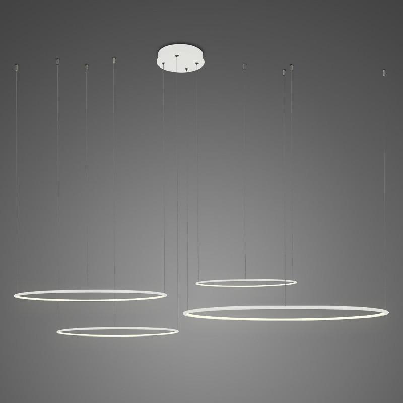 Lampa wisząca Ledowe Okręgi No.4 Φ100 cm in 3k biała ściemnialna Altavola Design