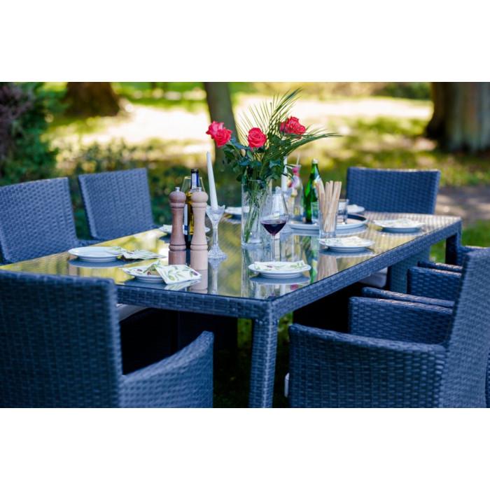 Wygodny zestaw do ogrodu GUSTOSO GRANDE / szary szczotkowany
