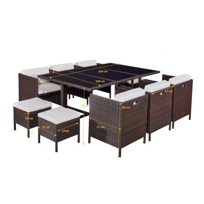 Elegancki zestaw mebli stołowych CRISTALLO GRANDE