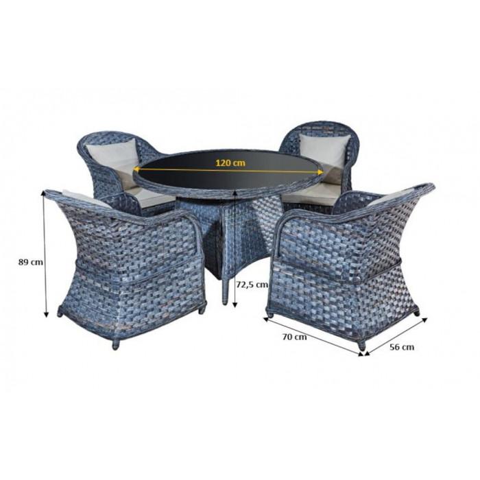Elegancki zestaw mebli stołowych MODERNO