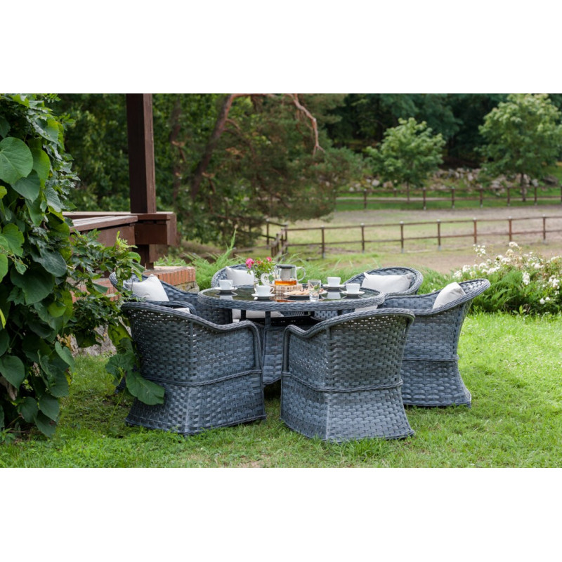 Zestaw mebli stołowych do ogrodu MODERNO GRANDE