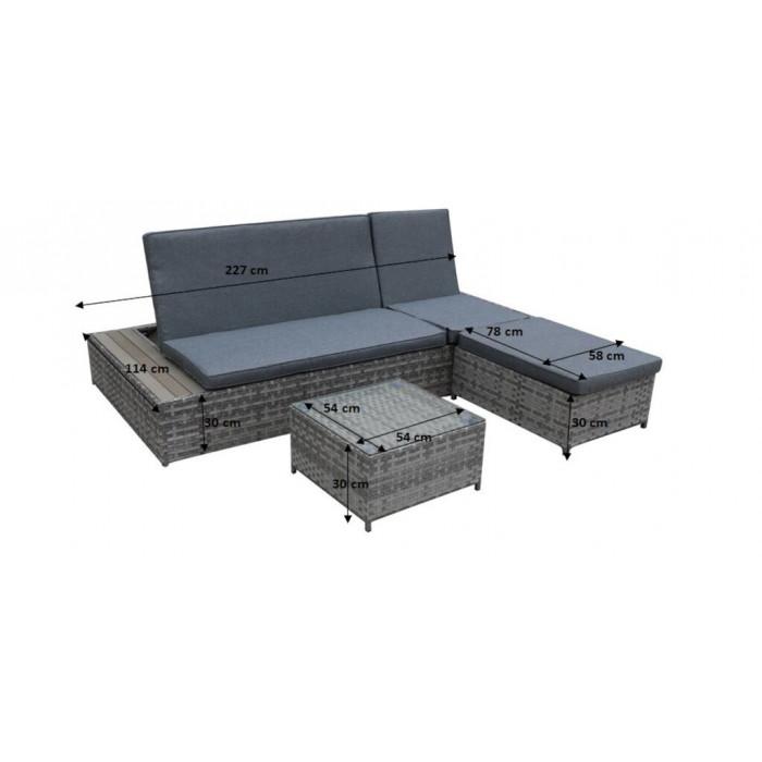Eleganckie łóżko ogrodowe DIABOLICO