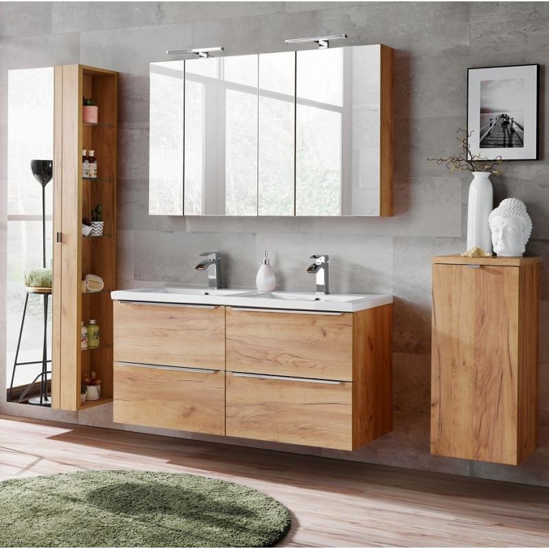 Zestaw mebli łazienkowych Capri Oak 140-1 / złoty dąb craft