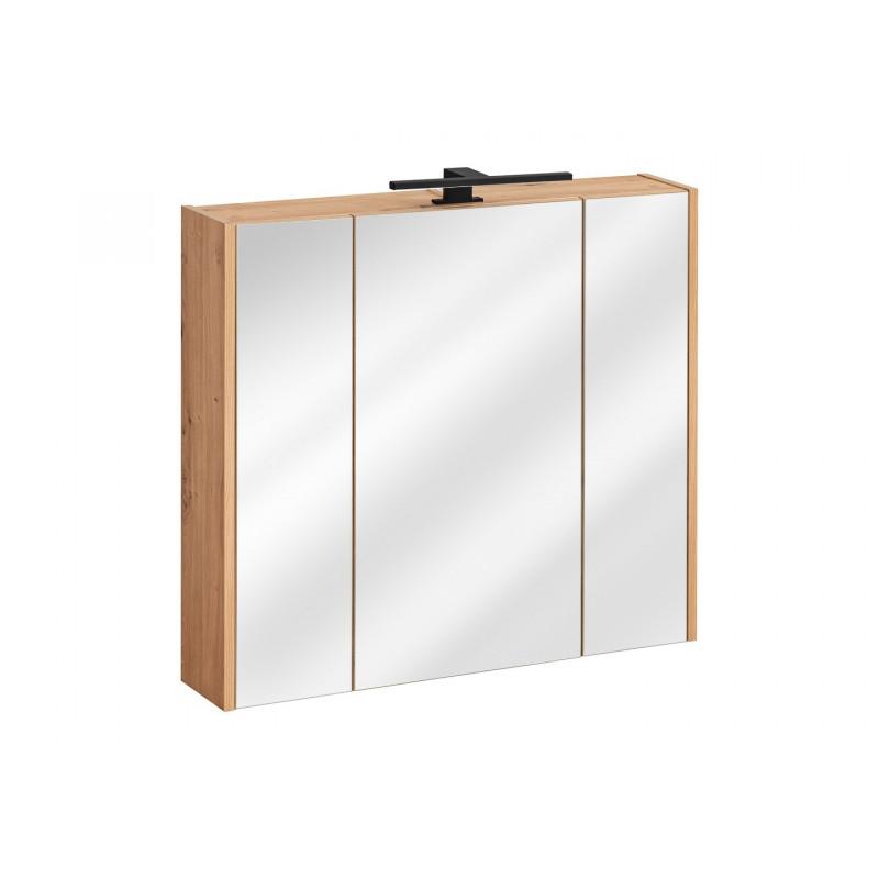Szafka z lustrem Madera 3D / 80 cm - dąb artisan + lustro
