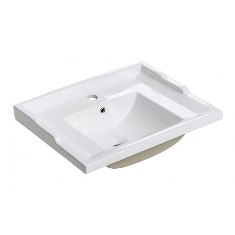 Umywalka meblowa RETRO F60 DP - biała