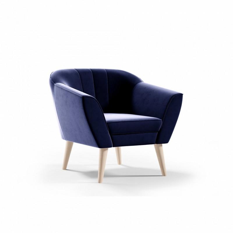 Fotel w stylu skandynawskim PIRS - granatowy / R81
