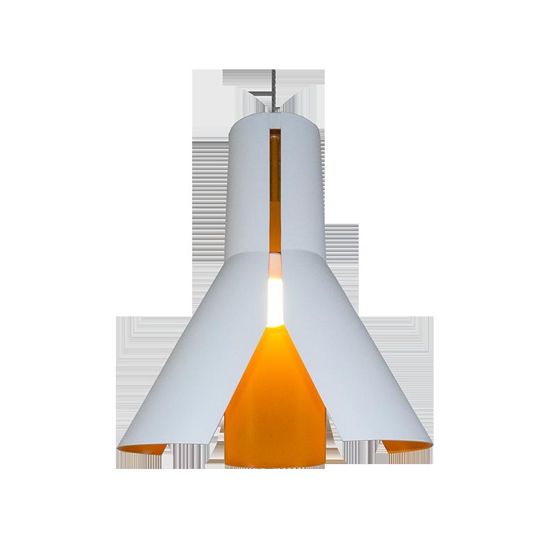 Origami Design No.1 - Biały || Chrom || Pomarańcz