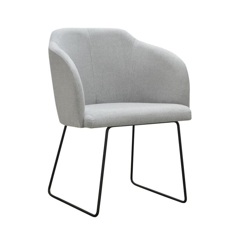 Kubełkowy fotel KLIO SKI na metalowych nogach