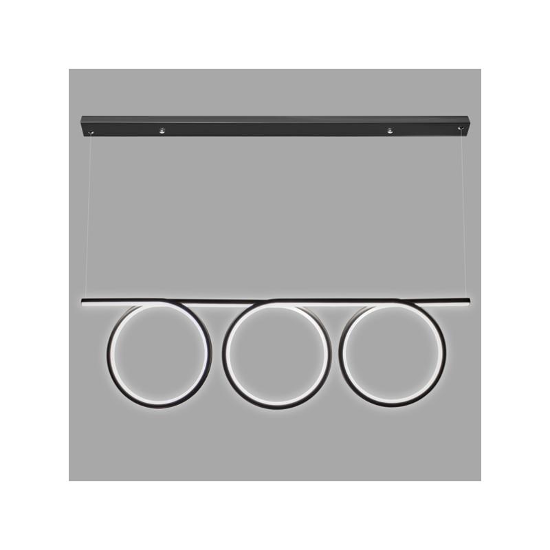 Lampa Ledowe Okręgi No. 8 - Czarny