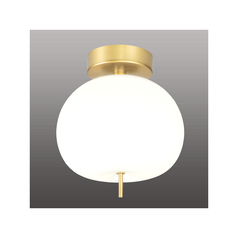 ALTAVOLA DESIGN: Ekskluzywna lampa LED sufitowa złoto biała – APPLE CE - lampa sufitowa