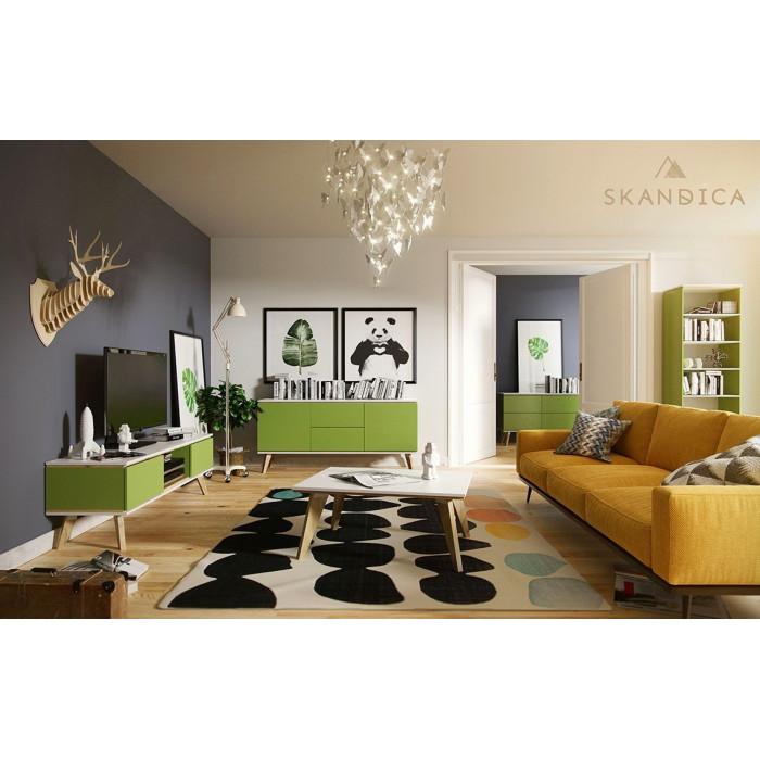 zestaw mebli do salonu Jorgen w kolorze zielonym