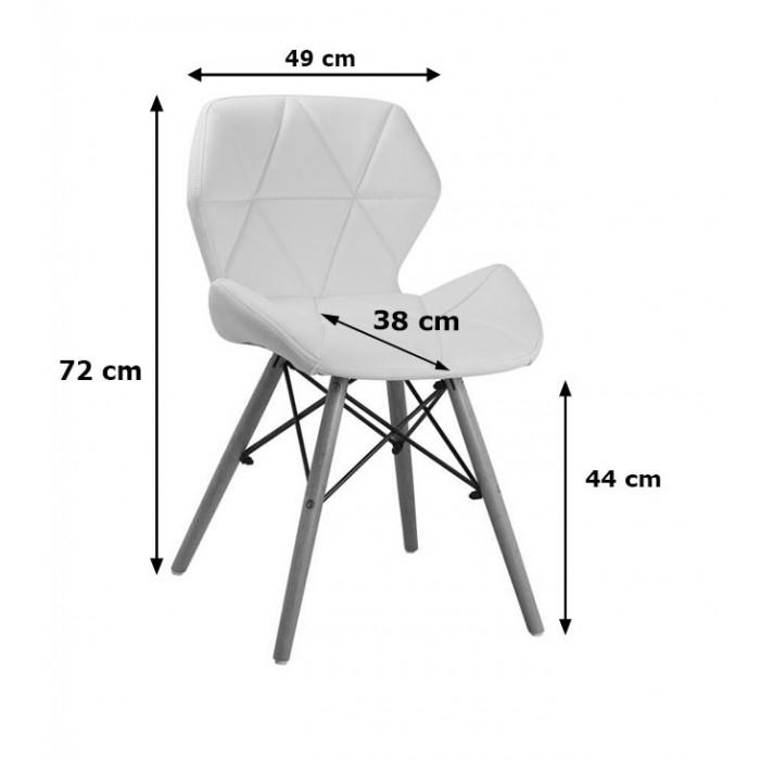 krzesło Milo Velvet jasny szary