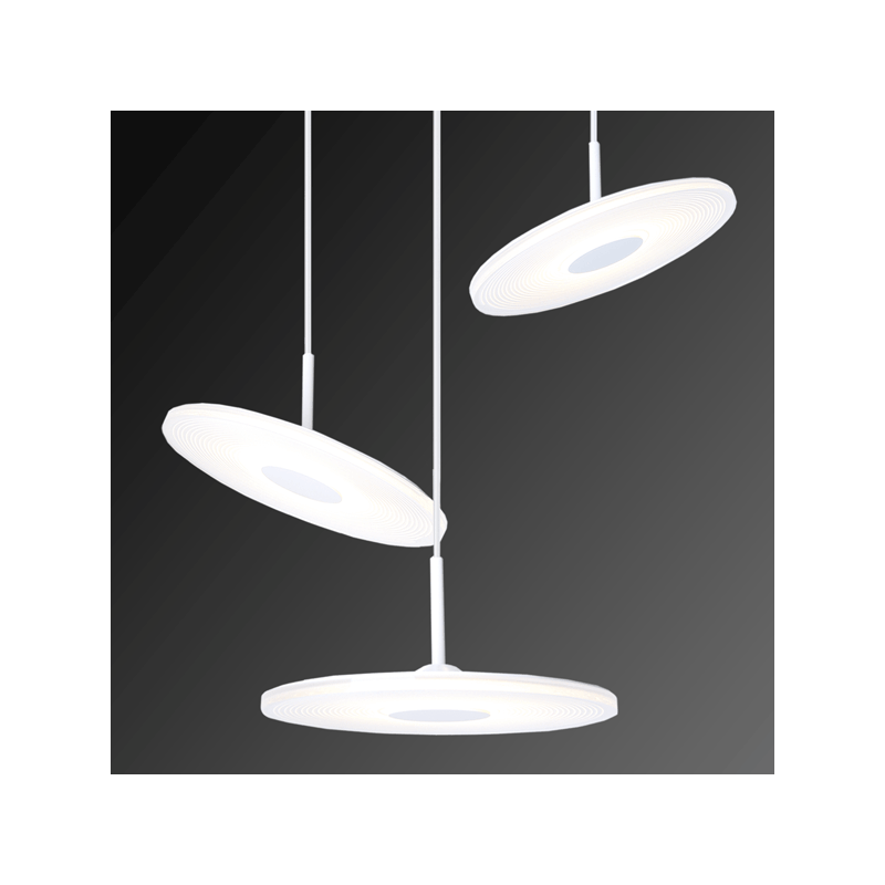 ALTAVOLA DESIGN: Minimalistyczna lampa LED wisząca – VINYL 3 - lampa wisząca