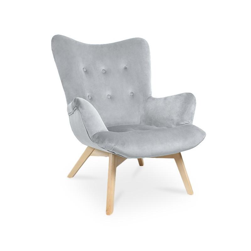 Fotel ANGEL jasnoszary/ noga buk/ PA05