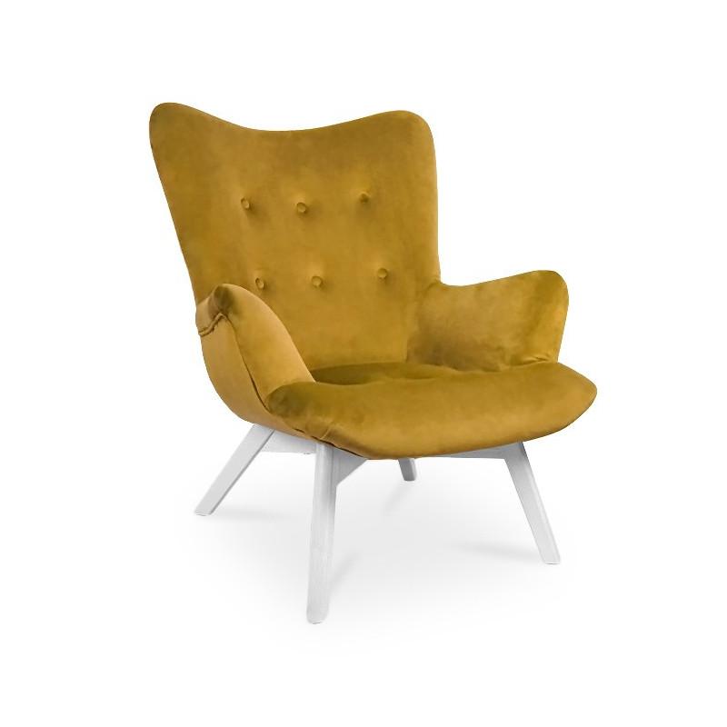 Fotel ANGEL miodowy/ noga biała/ KR01