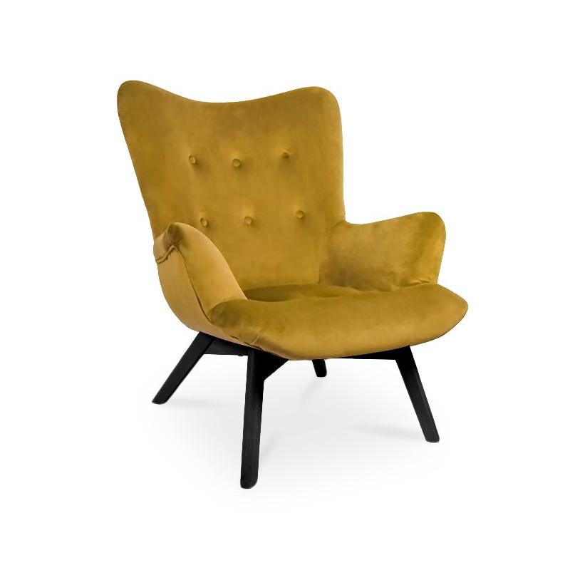 Fotel ANGEL miodowy/ noga czarna/ KR01