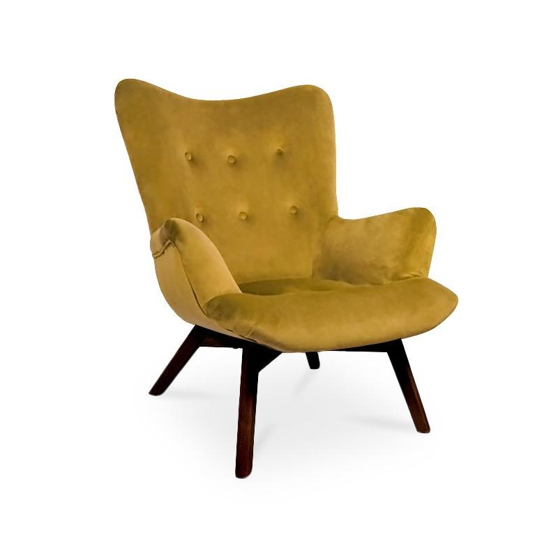 Fotel ANGEL miodowy/ noga orzech/ KR01